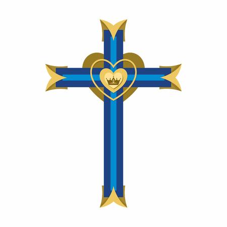 Christian symbol. Cross of the Lord and Savior Jesus Christ. 向量圖像