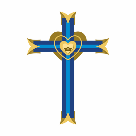Christian symbol. Cross of the Lord and Savior Jesus Christ. Illustration