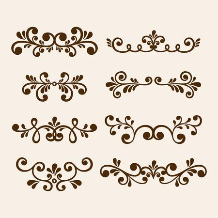 Vector hand draw vintage floral design elements. Flowers decorative elements. 向量圖像