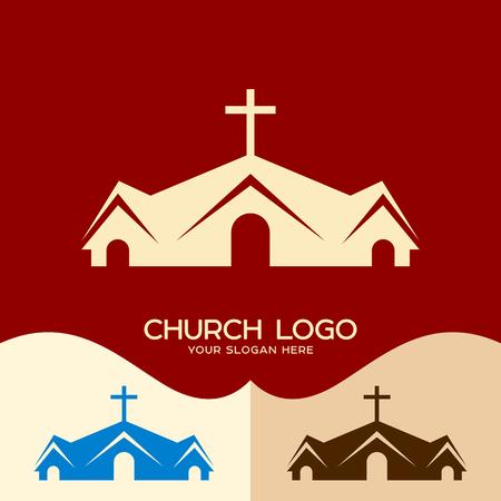 Church logo. Cristian symbols. House of God