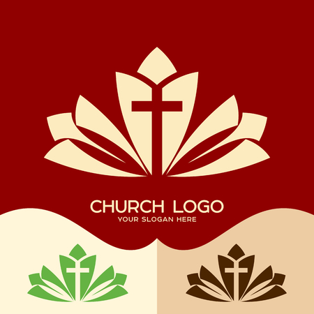 Church logo. Cristian symbols. Church logo. Cristian symbols. The cross of Jesus