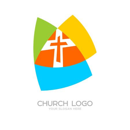 Church logo. Cristian symbols. The cross of Jesus