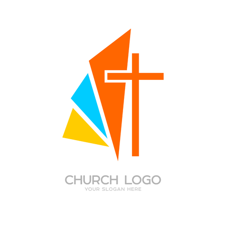 Church logo. Cristian symbols. The cross of Jesus