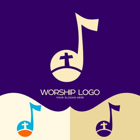 Worship logo. Cristian symbols. The Cross of Jesus
