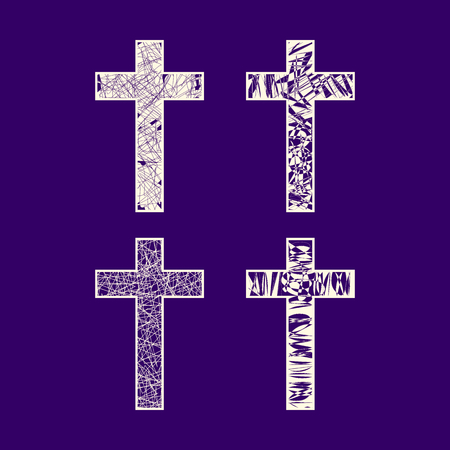 Christian symbols. Set of crosses