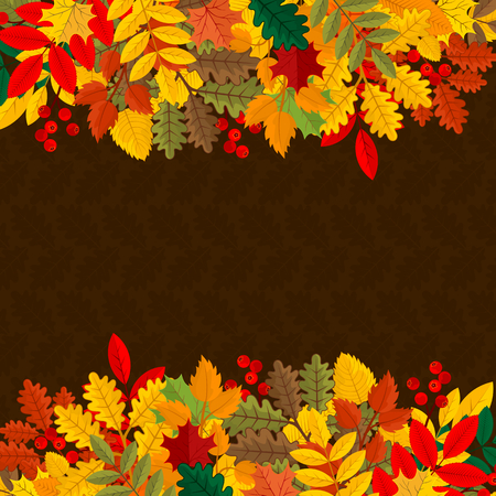 Elegant and beautiful autumn leaves and elements. Bright images for Thanksgiving Day