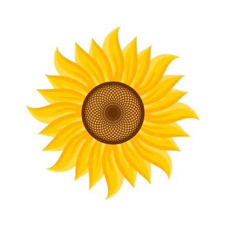 Logotipo y símbolo de girasol para el día de acción de gracias
