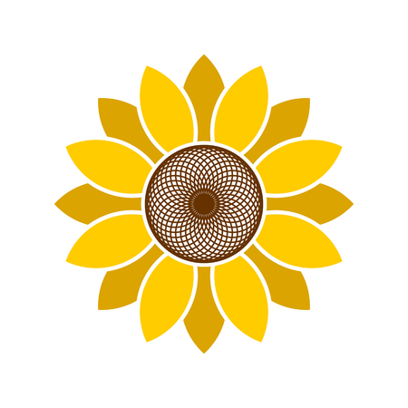 Logo and symbol of sunflower for Thanksgiving Day