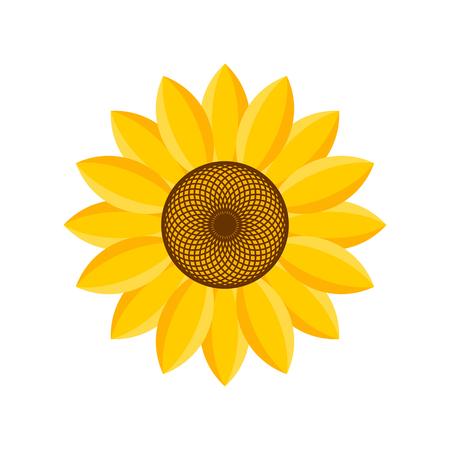 Logo en symbool van zonnebloem voor Thanksgiving Day Stock Illustratie