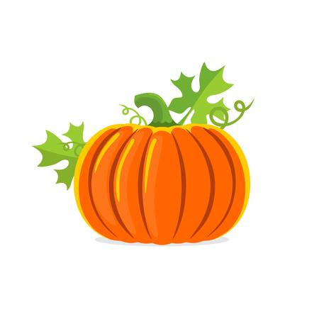 Logo and a pumpkin symbol for Thanksgiving. Illustration