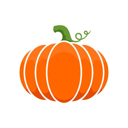 Logo and a pumpkin symbol for Thanksgiving. Imagens - 83986971