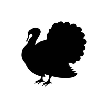 Logo and symbol of a turkey for Thanksgiving. Ilustracja