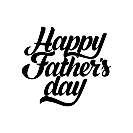 Typography and lettering with design elements and silhouettes for a happy fathers day