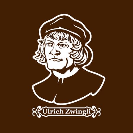 Ulrich Zwingli. Protestantisme. Leiders van de Europese Hervorming. Stockfoto - 87349275