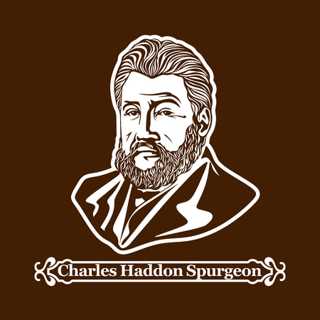 Charles Haddon Spurgeon. Protestantisme. Leiders van de Europese Reformatie. Stock Illustratie