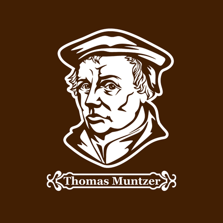 Thomas Muntzer. Protestantisme. Leiders van de Europese Reformatie. Stockfoto - 87349280