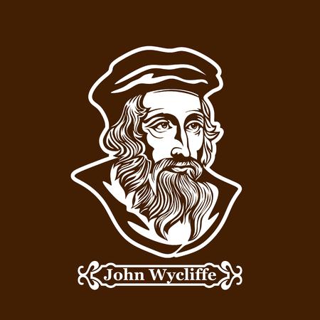 John Wycliffe. Protestantisme. Leiders van de Europese Reformatie. Stockfoto - 87349282