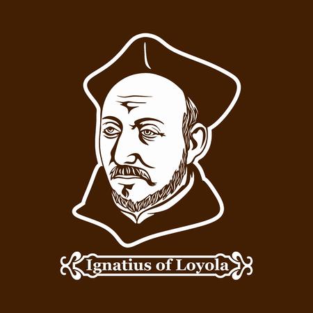 Ignatius van Loyola. Oprichter van de Orde van de Jezuïeten. Stock Illustratie