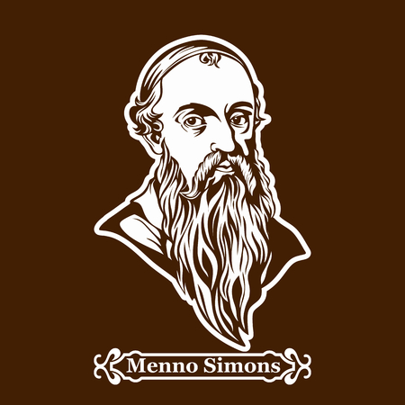 Menno Simons. Protestantism. Leaders of the European Reformation. Illustration