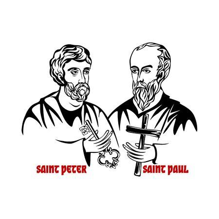 The Saints Apostles Peter and Paul. 일러스트