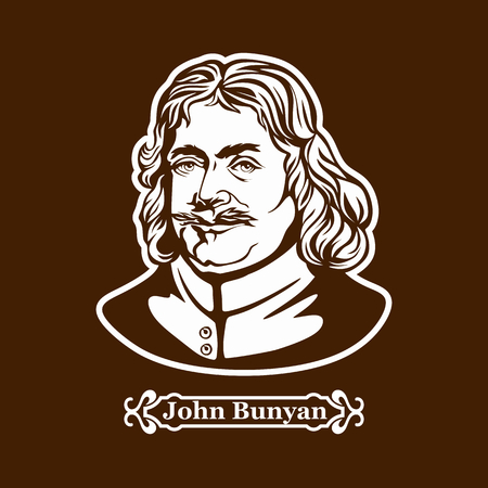 John Bunyan. Protestantism. Christian writer Illustration