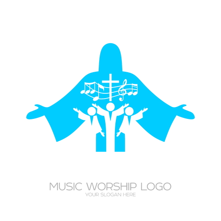 Music Christian symbols. Musical Worship in Christ Jesus