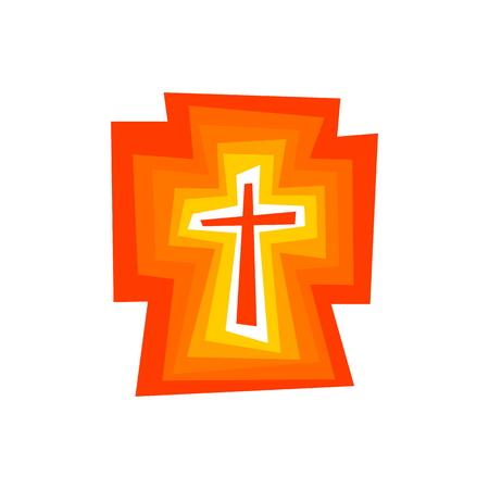 イエス・キリストの輝く十字架  イラスト・ベクター素材