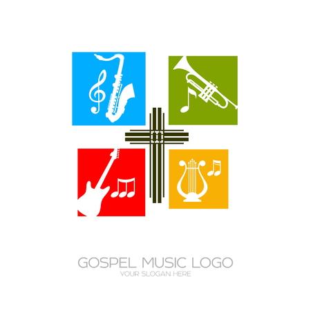 ゴスペル音楽アイコン。神の奉仕のための楽器。