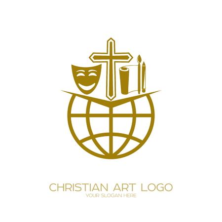 「演劇、詩、ミュージカルを行うキリスト教のクリエイティブチームのアイコン。