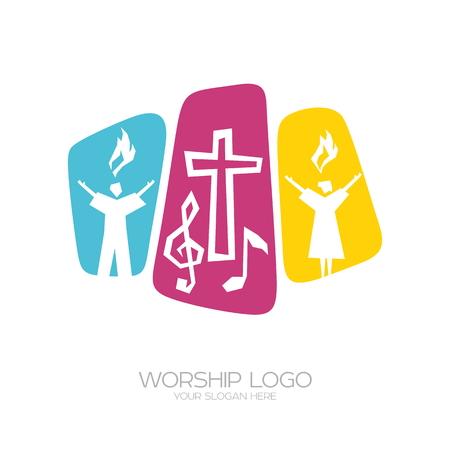 주 예수 그리스도를 경배하고 하나님을 영화 롭게하는 노래를 연주합니다.