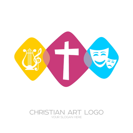 Icon of Christian creativity. Theater-musical performances and evangelization. Illustration