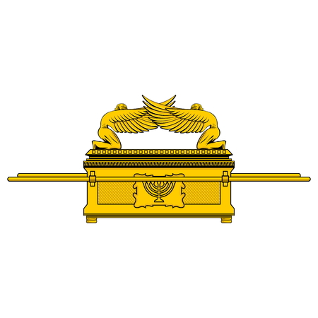 The Ark of the Covenant is the shrine of the Jewish people Vettoriali