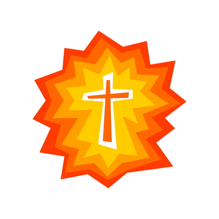Logo. The Shining Cross of Jesus Christ Иллюстрация