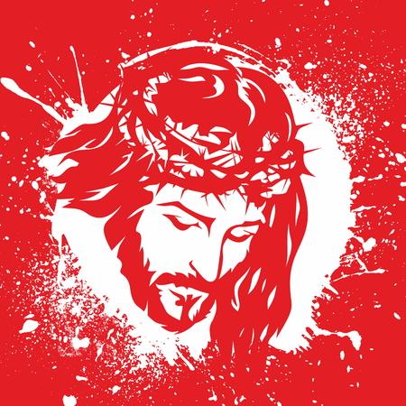 Face of Jesus Christ Illustration
