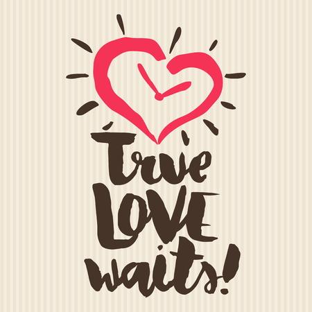 Christian print, True love waits. Illustration
