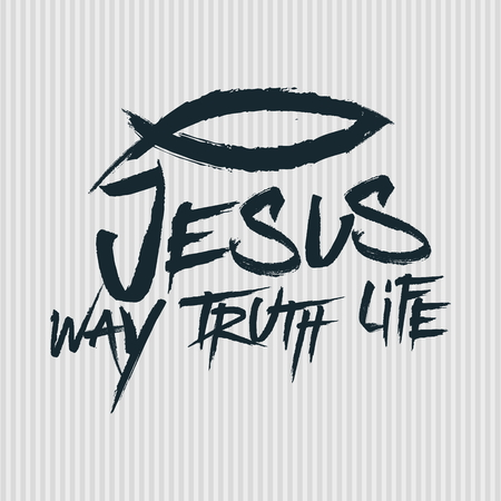 Christian print. Jesus - Way. Truth. Life Stock Illustratie
