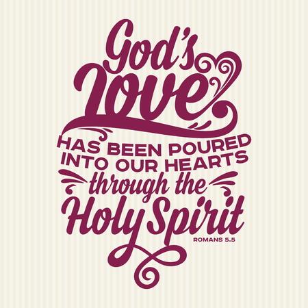 Stampa cristiana. L'amore di Dio è stato riversato nei nostri cuori Vettoriali