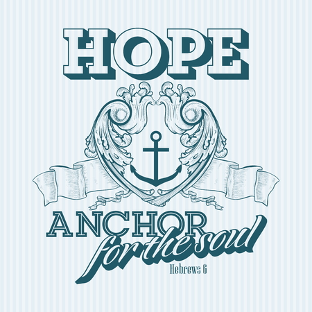 Christian print. Hope - anchor for the soul