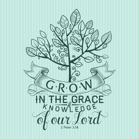 Christian print. Grow in the Grace