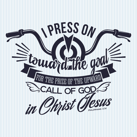 Christian print. I press on facing the goal