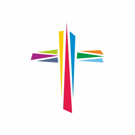 Church logo. The cross of Jesus Christ is a symbol of death and victory over sin
