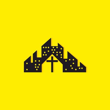 Church logo. Holy Church in the city
