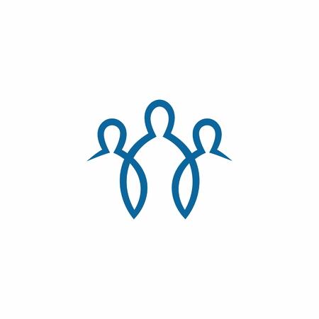 Church logo. Unity in Jesus Christ Vettoriali