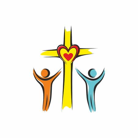 Church logo. Loving God
