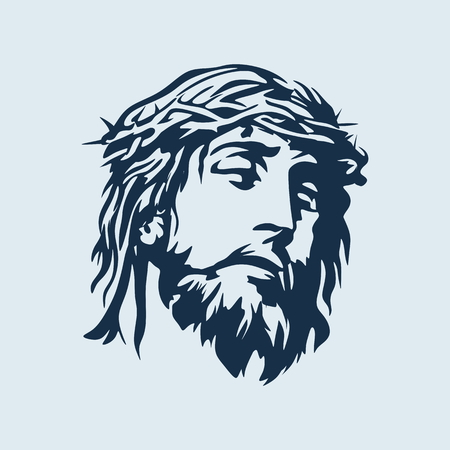 Twarz Pana Jezusa Chrystusa Ilustracje wektorowe