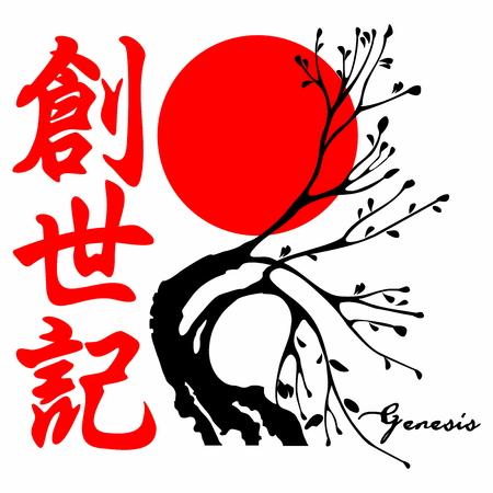 Genesis. Gospel in Japanese Kanji