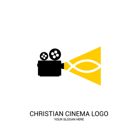 Christian cinema logo. Movie, conference, camp, festival, event.