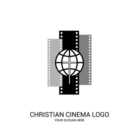Christian cinema logo. Movie, conference, camp, festival, event.