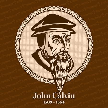 John Calvin (1509 - 1564) was a French theologian during the Protestant Reformation. Christian figure. Stockfoto - 118117269