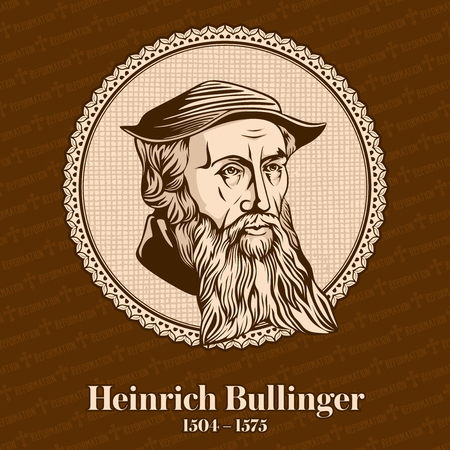 Heinrich Bullinger (1504 - 1575) was a Swiss reformer. He was one of the most influential theologians of the Protestant Reformation in the 16th century. Christian figure. Stockfoto - 118117276
